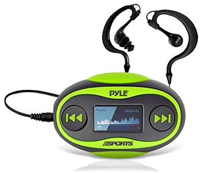 Pyle PSWP25GR 4GB Waterproof MP3 Player