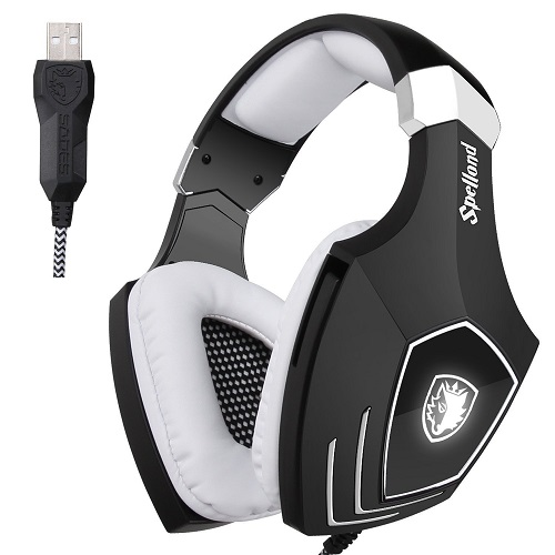 SADES A60SOMG PC Wired USB Stereo Gaming Headset